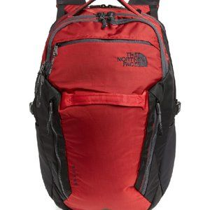 NEW ! THE NORTH FACE Surge Backpack In Rage Red